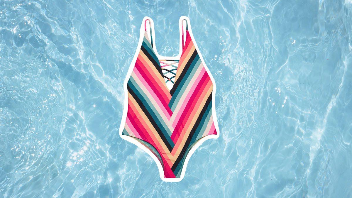 Swimwear for Body Shapes, colourful bathingsuit