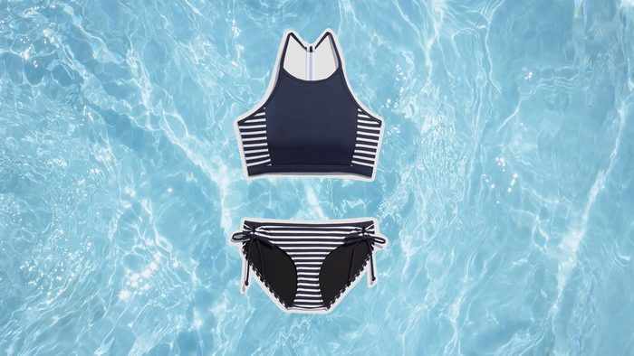 Swimwear for Body Shapes, nautical bikini