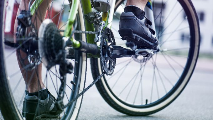 cycling 200km person on a bike