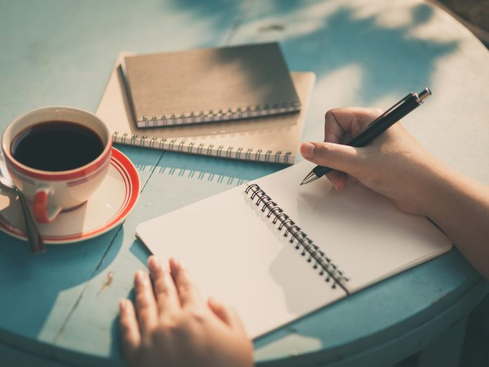 morning coffee and journal