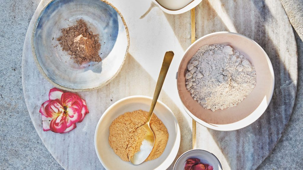 oat flour mask ingredients for beauty