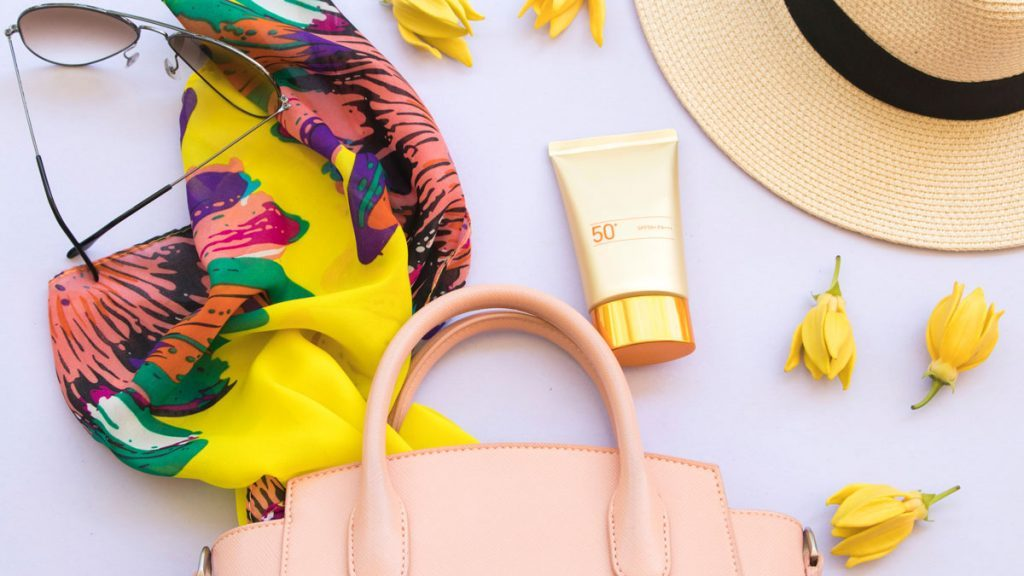 mineral sunscreen beauty essentials layout