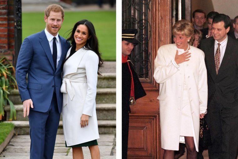 Meghan Markle and Princess Diana style