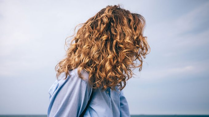 Frizzy Hair, woman with curly hair