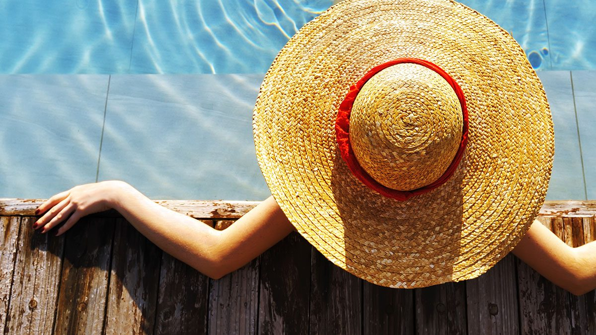 Sun Hats, woman wearing a sun hat