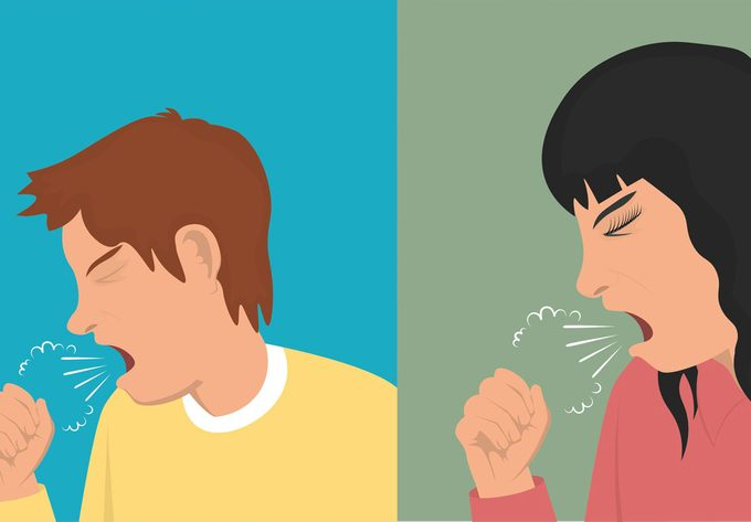 coughing illustration