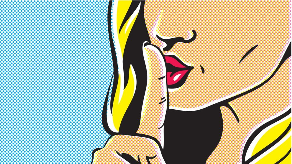lying woman secrets pop art