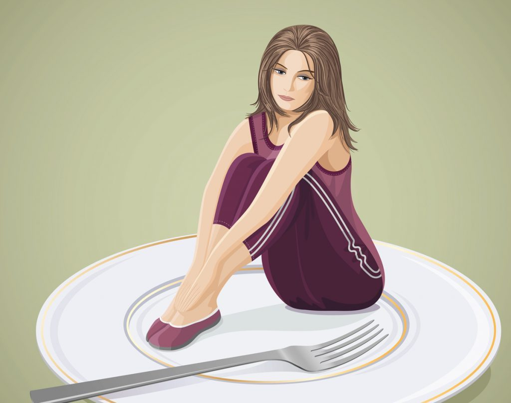 signs of an eating disorder weight issue
