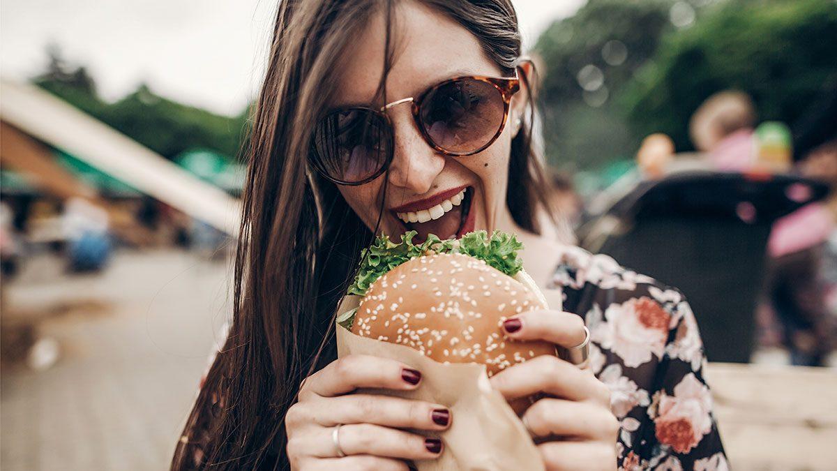 High-Fat Diet, eating burger