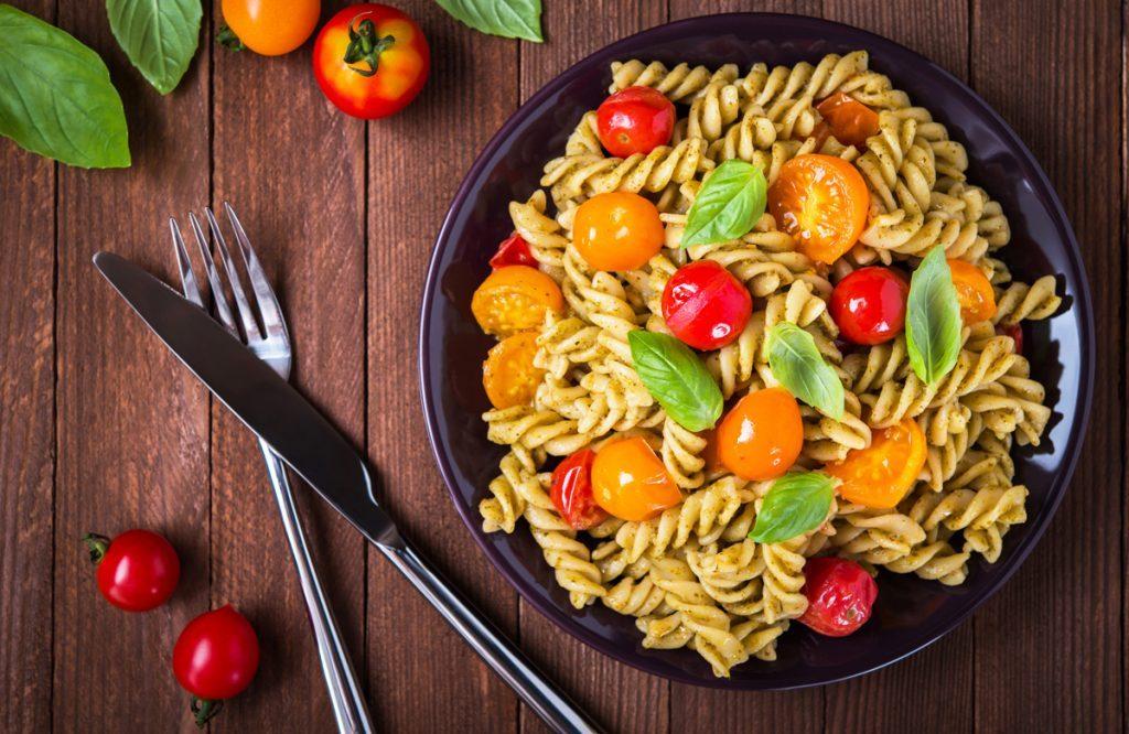 pasta carbs