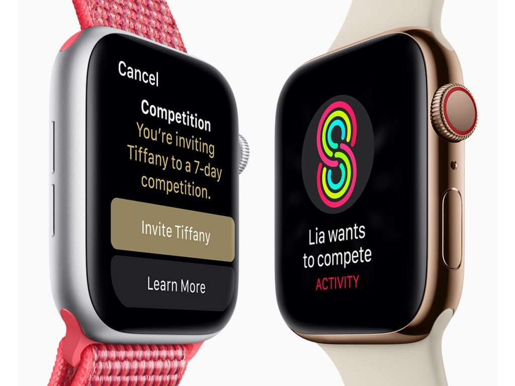 Apple Watch Series 4 activity competitions