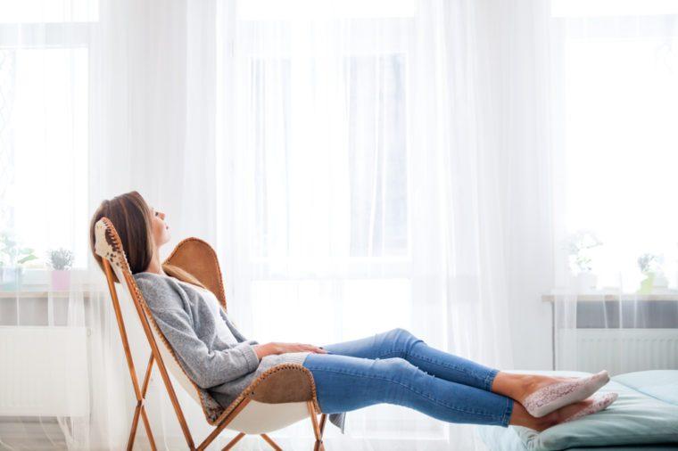 woman relaxing napping