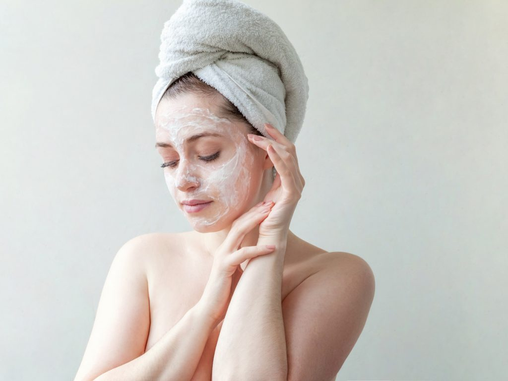 face mask clean beauty routine