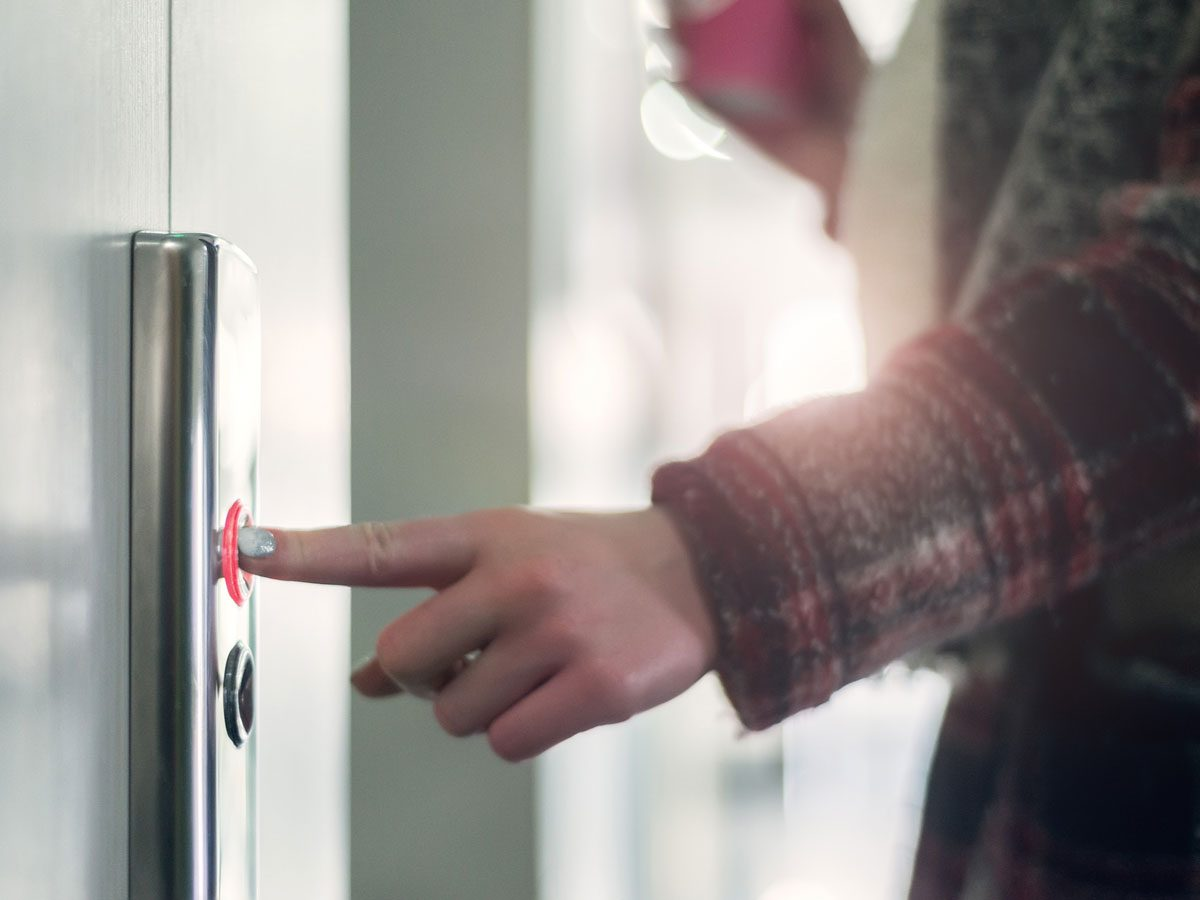 Germs, elevator button
