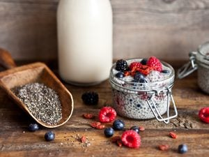 Super Simple Vanilla Chia Pudding with Berries