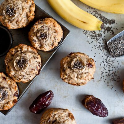 These Banana, Date and Chia Muffins are the Perfect On-the-Go Snack