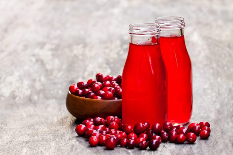 Home Remedies, cranberry juice