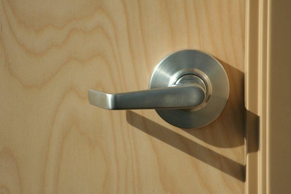 modern door handle in office/ hospital