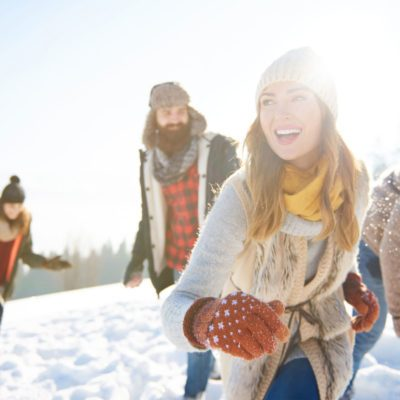 Winter Skincare, woman outdoors