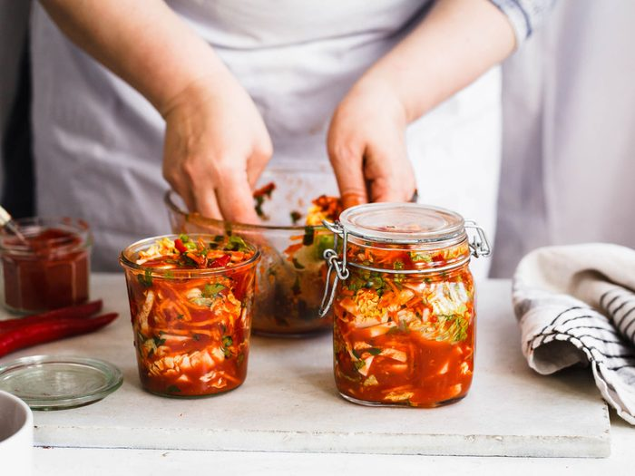 kimchi probiotic foods and drinks