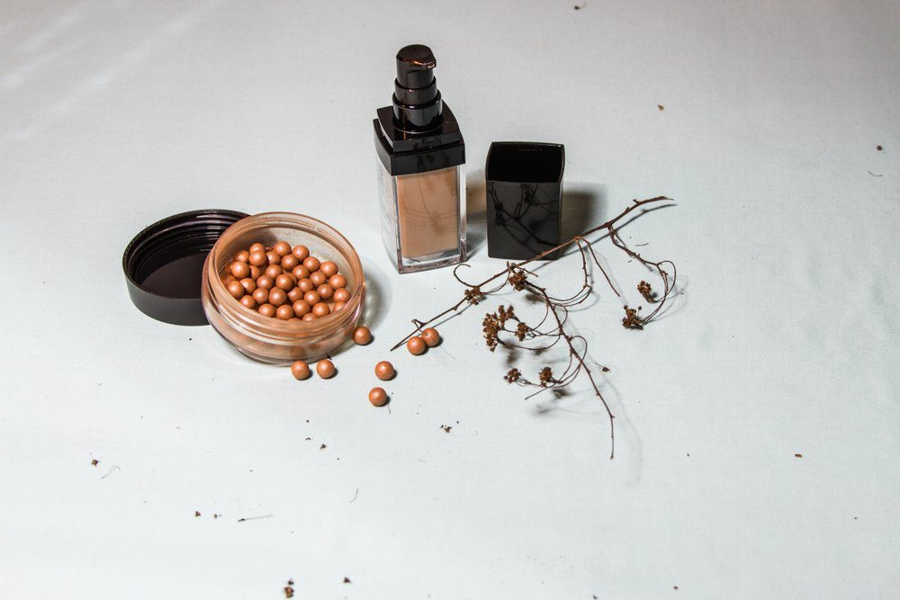 photo powder in makeup balls