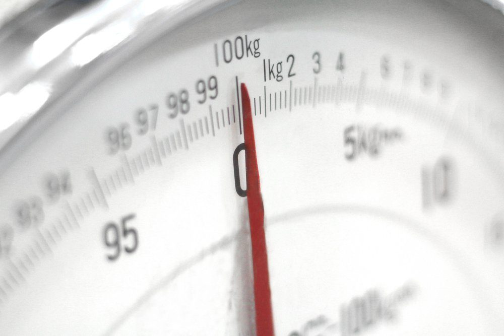 Soft Focus of Weight Scale.