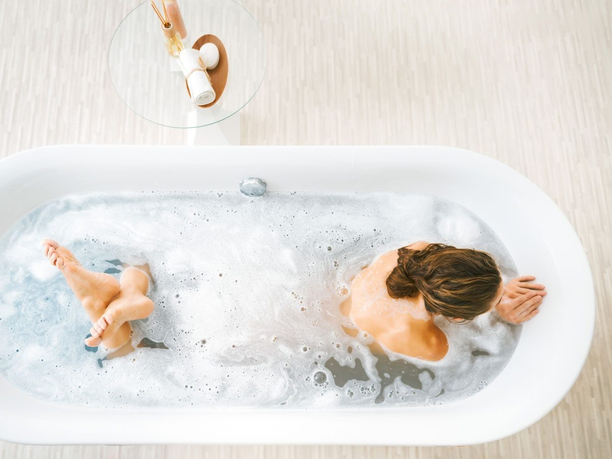 Fight Holiday Stress, bath tub