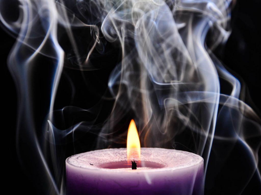 candle smoke inhalation flame