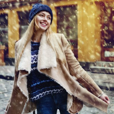 Prevent Aging, woman outside in winter