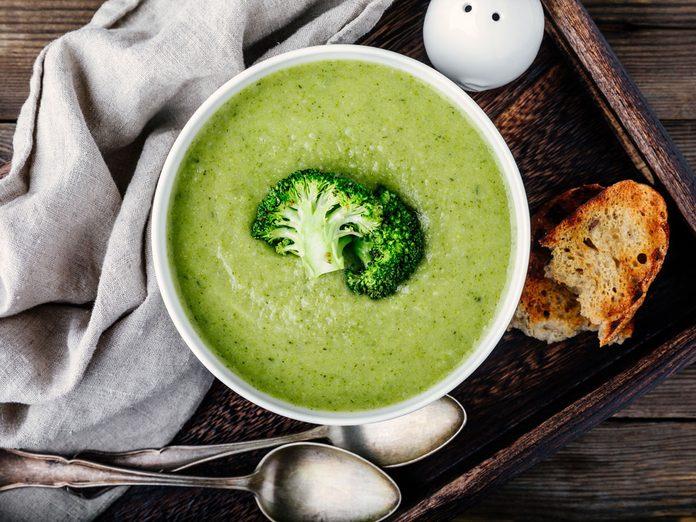 broccoli cauliflower leek soup
