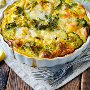Cauliflower and Broccoli Gratin