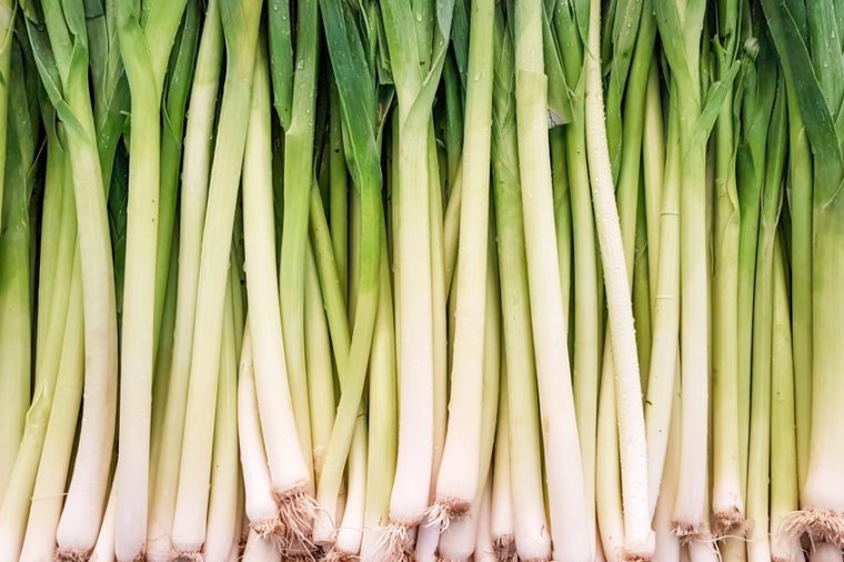 The vegetables; leek