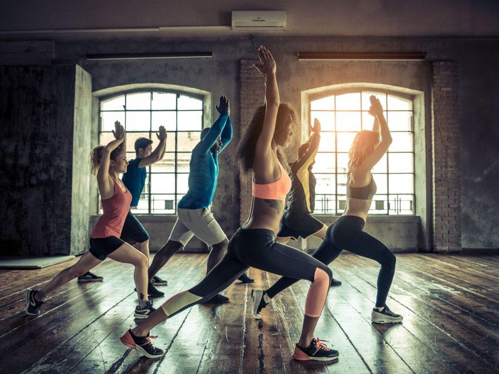 fitness class workout women