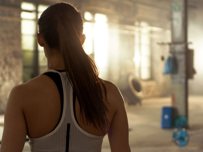 build muscle | woman at gym