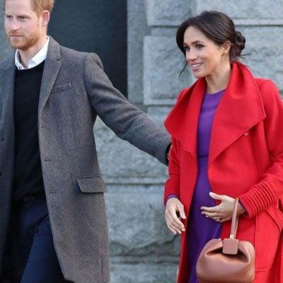 Meghan Markle in Sentaler red coat