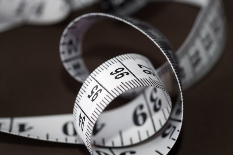 Detail of a measuring tape