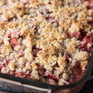 Rhubarb Elderberry Crisp