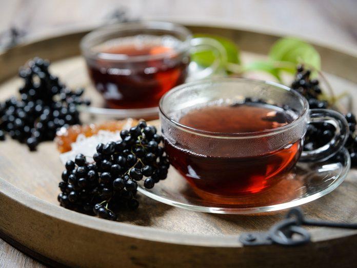 elderberry blossom tea