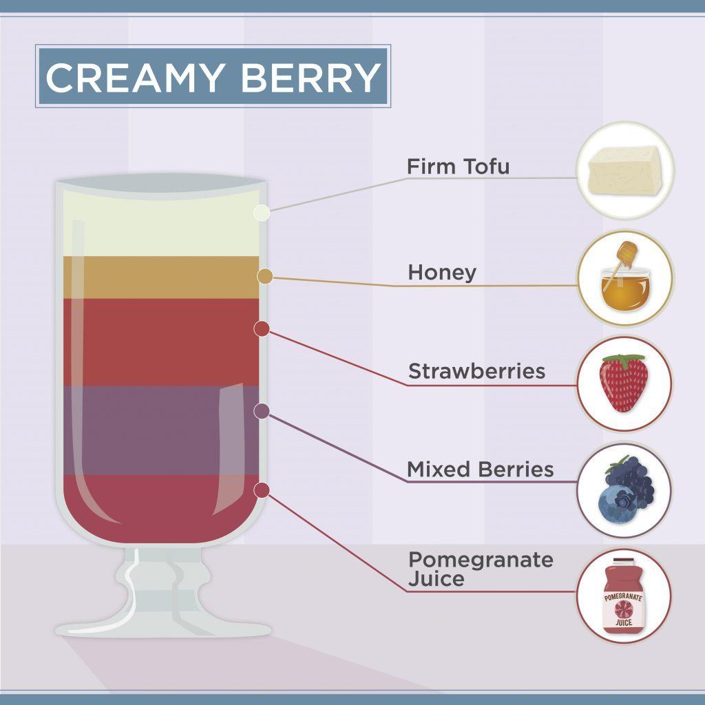 how to make a smoothie creamy berry