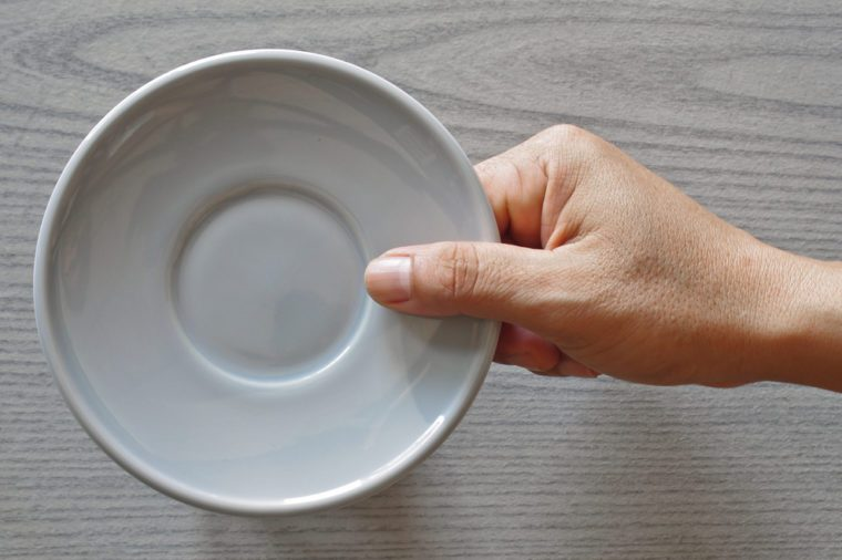 saucer in hand
