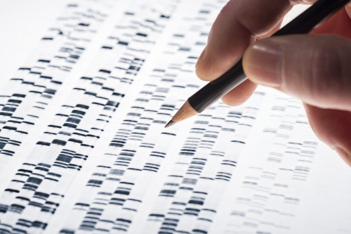 Scientists examined DNA gel that is used in genetics, medicine, biology, pharma research and forensics.