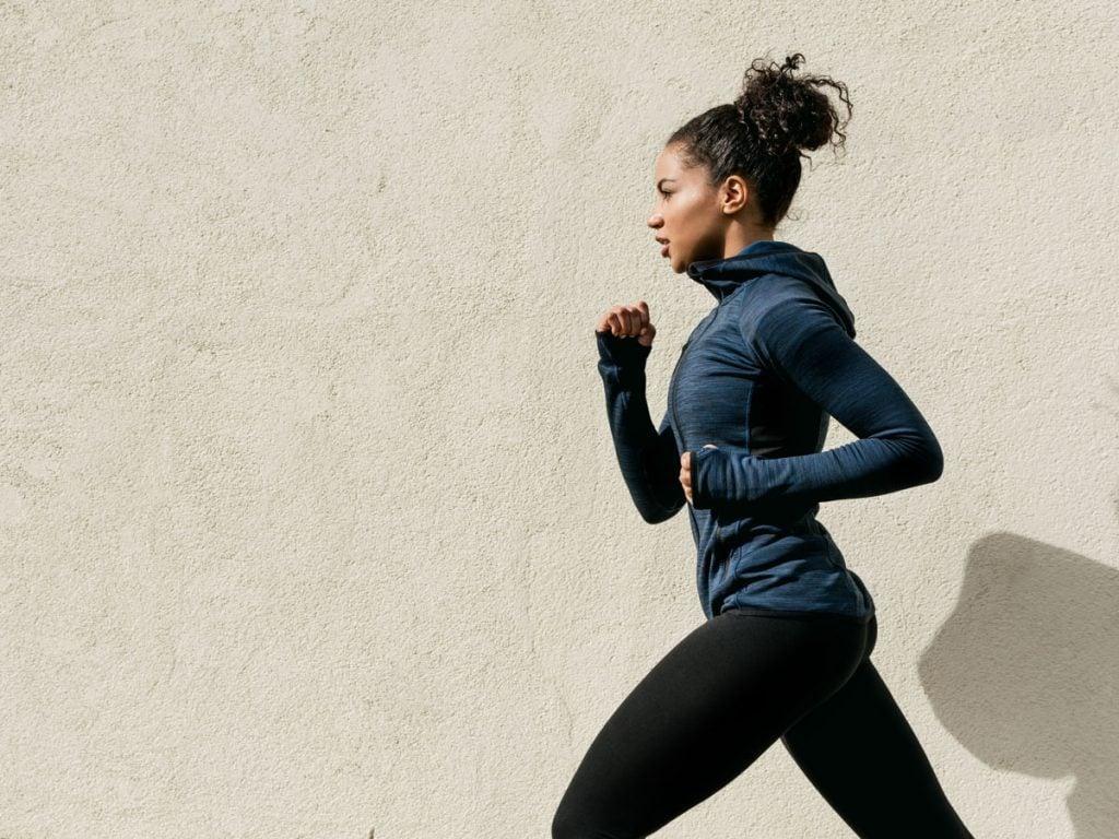 women running pace