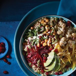 This Tahini Beet Green Bowl Is a No-Brainer Weekday Meal