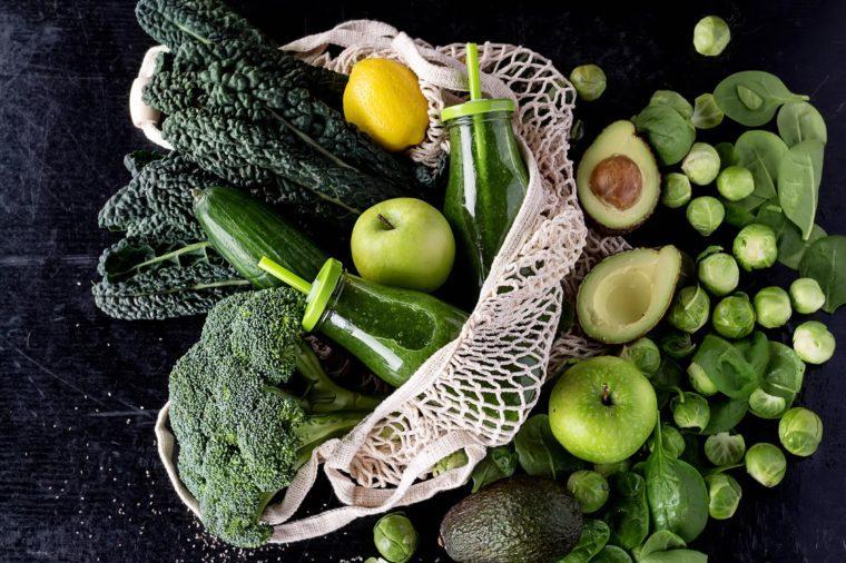 healthy groceries bag