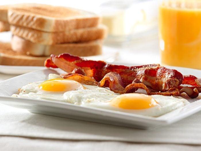 worst fast food breakfast bacon eggs