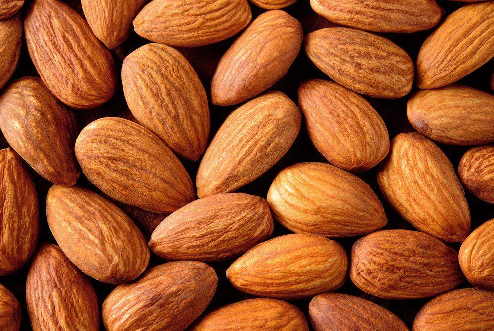 Almond. Almonds macro. Almonds background. Almond nuts.