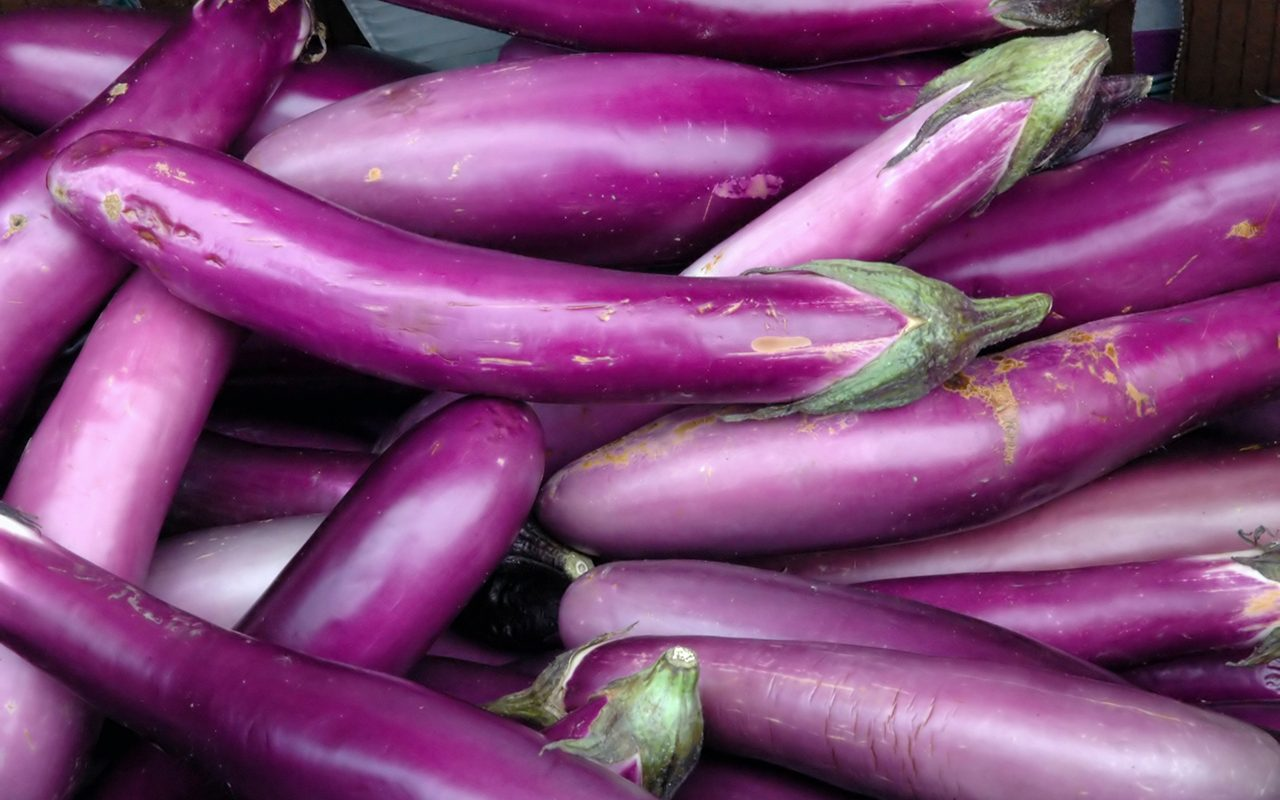 Eggplant in Chinatown outdoor market