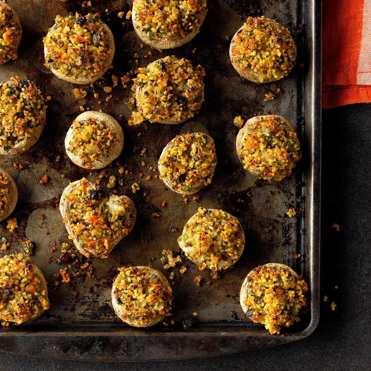 Moroccan Stuffed Mushrooms