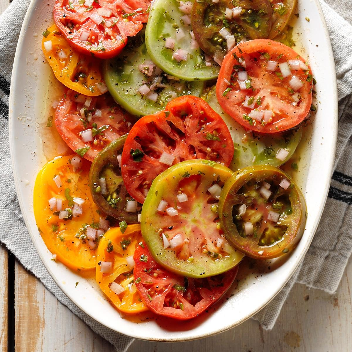 Tasty Marinated Tomatoes