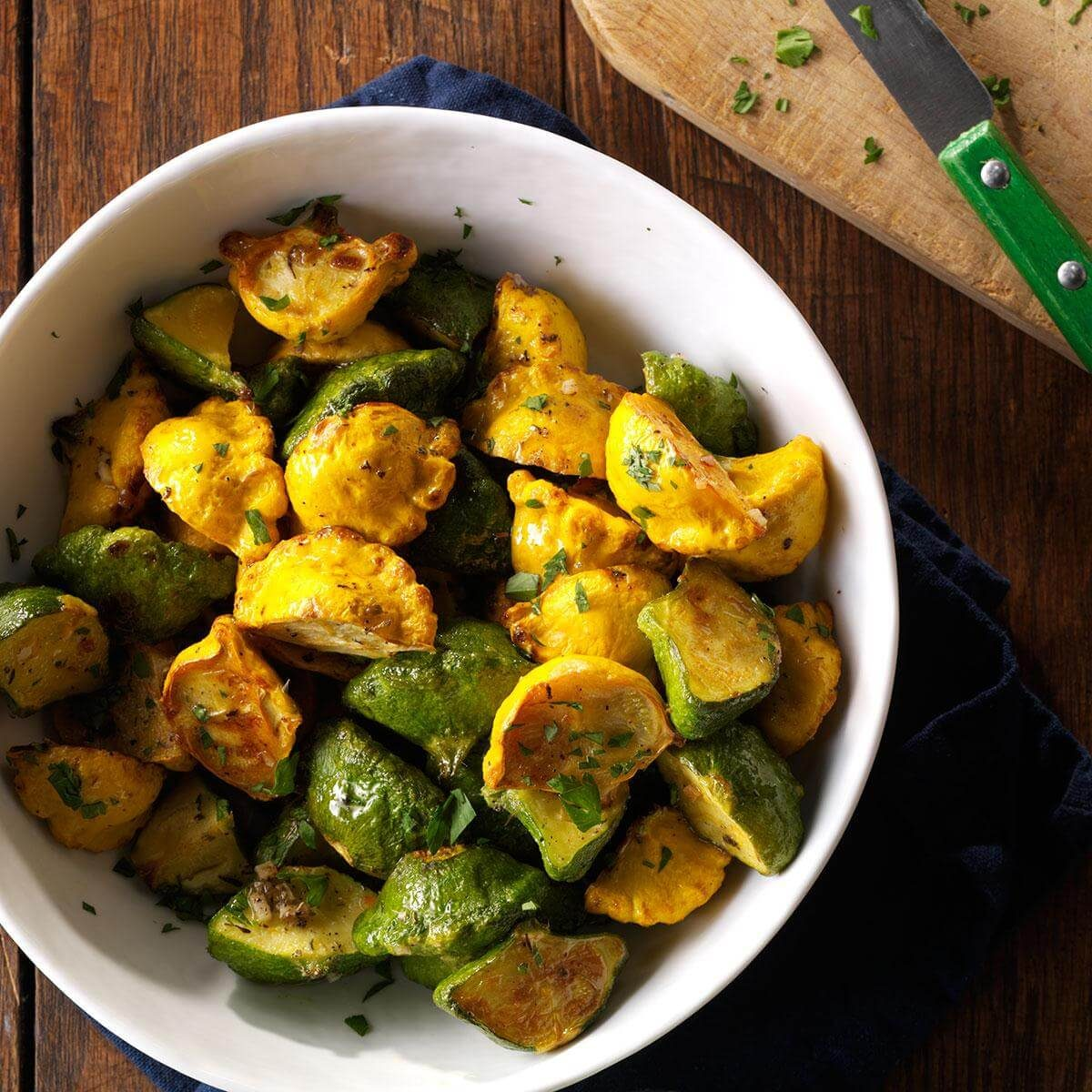 Garlic-Herb Pattypan Squash